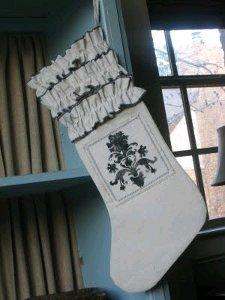 Ruffled Drop Cloth Stocking