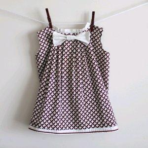Pleated Bow Pillowcase Dress
