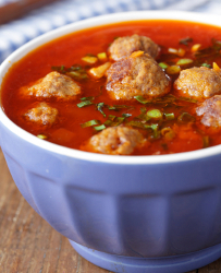 Cheese and Meatball Soup