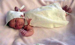 Hankie Turned Baby Bonnet