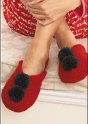Holiday Pom Slippers