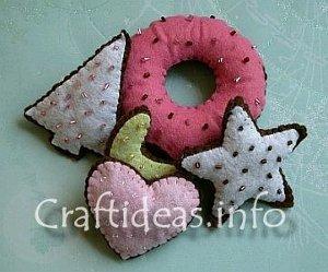 Felt Christmas Cookies