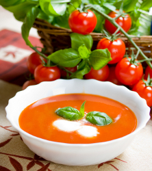 Creamy Tomato Vodka Soup