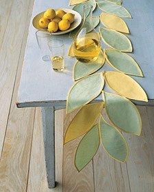 Leafy Table Runner