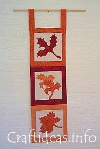 Wall Hanging with Leaves
