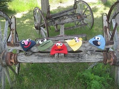 Sesame Street Crochet Hats