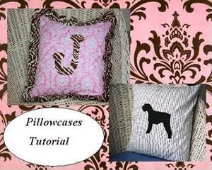 Pillowcases with Ruffles and Appliques