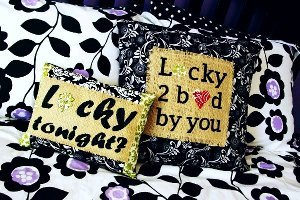 Lucky in Love Pillows