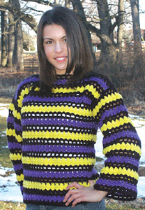 Bright Sweater with Stripes