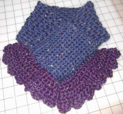 Crocheted Scarflette
