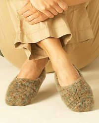 Felting Crochet Slippers
