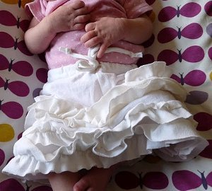 Ruffled Newborn Skirt