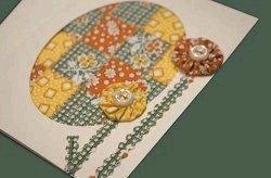 Vintage Sewn Notecard
