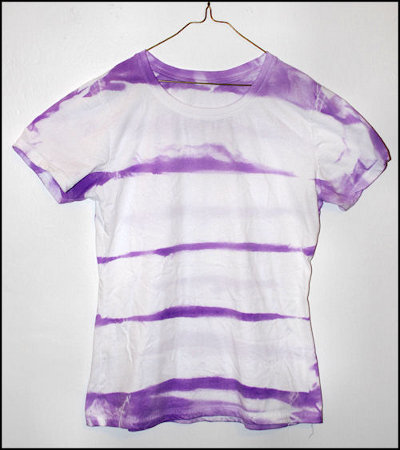 Striped Tie Dye T Shirt