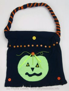 Repurposed T-Shirt into Halloween Treat Bag
