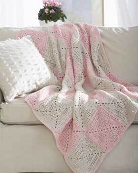 Rose Twist Afghan Crochet
