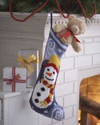Chilly Snowman Christmas Stocking