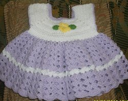 Adorable Crocheted Baby Dress