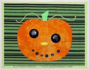 Sew a Pumpkin Placemat