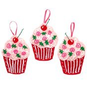 Sweet Cupcake Ornaments