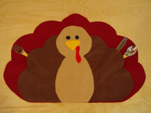 Last Minute Kids' Thanksgiving Placemat