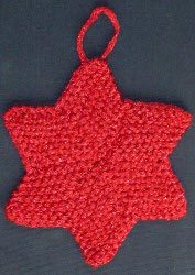 Six Pointed Star Christmas Ornament
