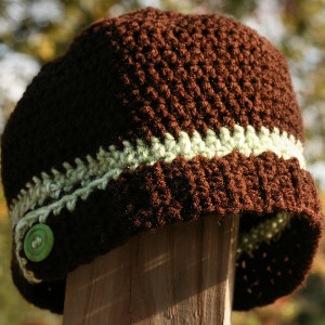 Bottoms Up Crochet Hat