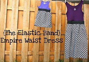 Elastic Band Empire Waist Dress