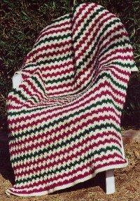 Flame Stitch Afghan