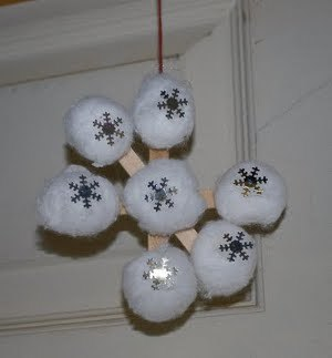 Snowflake Ornaments Preschool Christmas Crafts