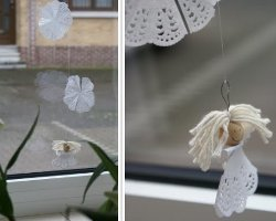How To Make A Paper Doily Angel And Garland