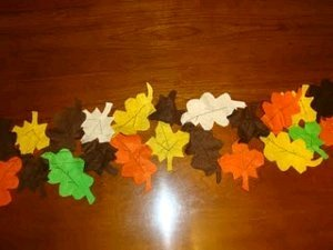 Felt Leaves Table Runner