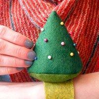 Wool Felt Christmas Tree Pincushion