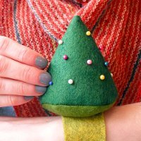 Wool Felt Christmas Tree Pincushion