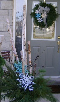 Christmas Urn and Wreath