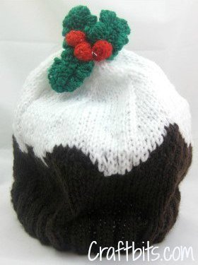 Adult Beanie Christmas Plum Pudding