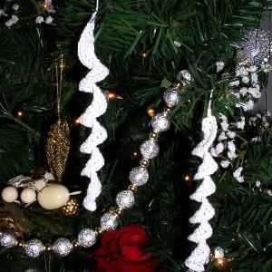 Crocheted Snow Swirls