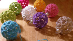 Pip's Crocheted Christmas Baubles