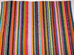 Vintage Vertical Stripe Crocheted Blanket