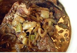 Friday Night Slow Cooked Brisket And Onions