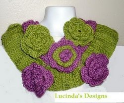 Scarf with Flowers