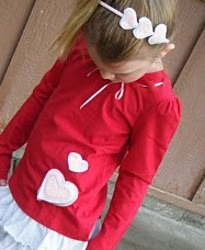 Love-ly Valentines Shirt and Headband Tutorial