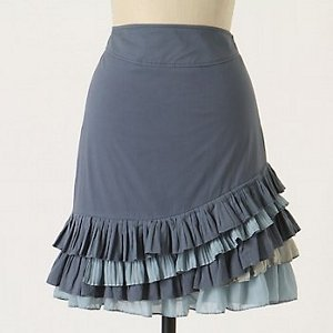 Anthropologie Ruffled Skirt Tutorial