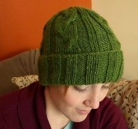 Men's Cabled Hat Pattern