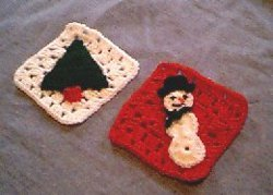 Holiday Applique Granny Squares