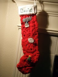 Vintage Granny-Square Christmas Stocking
