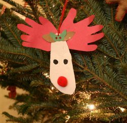 Reindeer Handprint & Footprint Ornaments