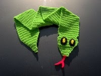 Crocheted Snake Scarf