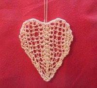 Lace Heart Knitting Pattern