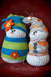 Winter Sock Snowmen